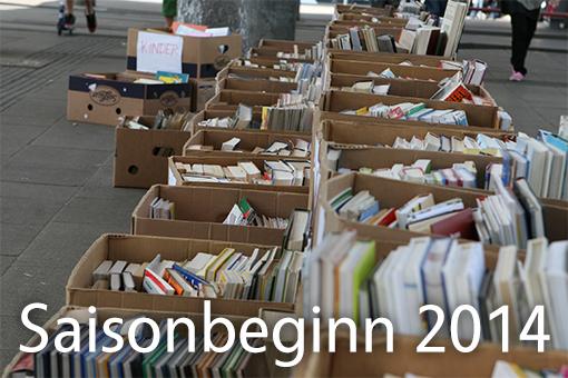 Bücherflohmarkt Saisonbeginn 2014