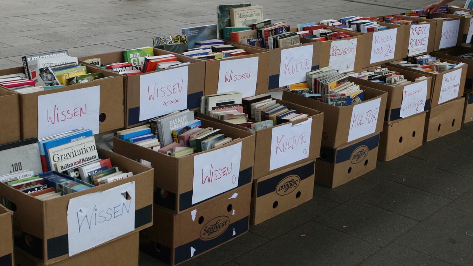 Bücherspenden für den Sozialflohmarkt Floridsdorf